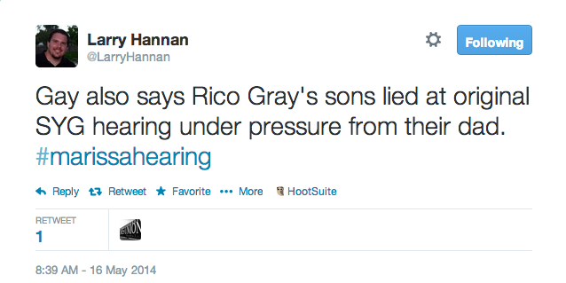 Gay also says Rico Gray's sons