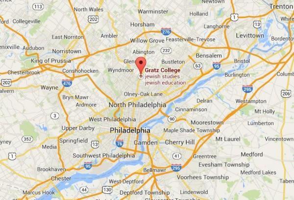 Gratz College Area Map