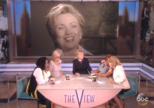 Hillary Clinton The View Barbara Walters last show 2