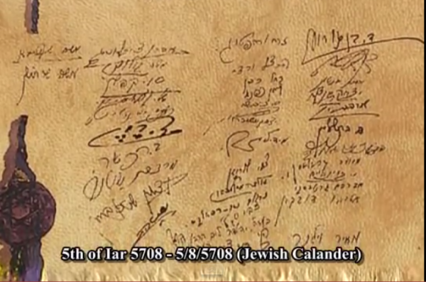 Israel Declaration of Independence signatures