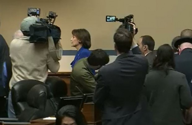 Lois Lerner Leaves House Hearing 3-5-2014