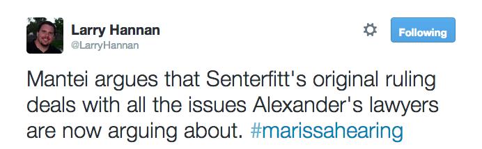 Mantei argues that Senterfitt