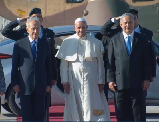 Pope Francis Israel w Netanyahu Peres