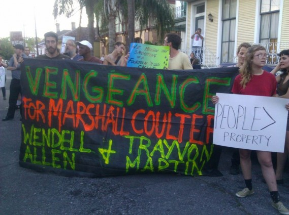 Protestors for Marshall Coulter