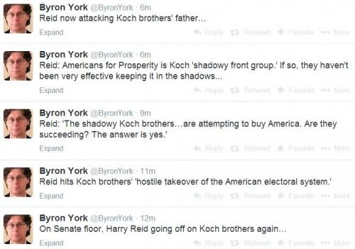 Twitter - @ByronYork - Harry Reid Attacking Koch father