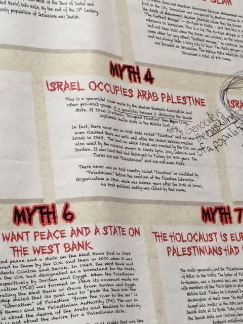 Vassar Wall of Truth Myth 4 defaced May 2014