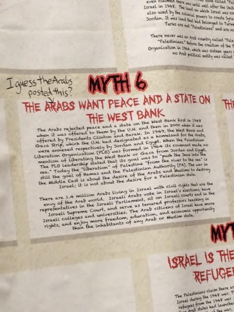 Vassar Wall of Truth Myth 6 defaced May 2014