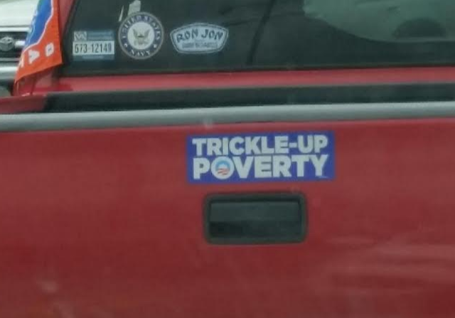 Bumper Sticker - Gainesville FL - Trickle Up Poverty