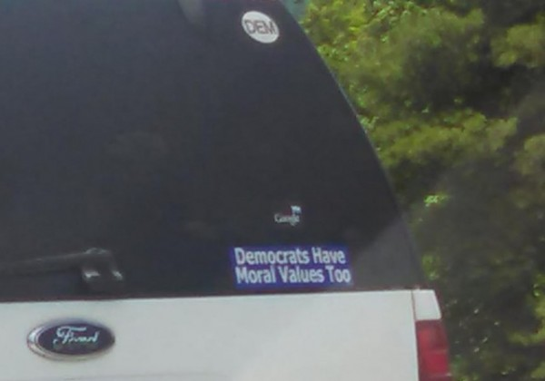 Bumper Sticker - Georgia - Democrats Have Moral Values