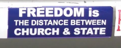 Bumper Stickers - Philadelphia - Church and State