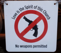 Church Door Gun Free Zone