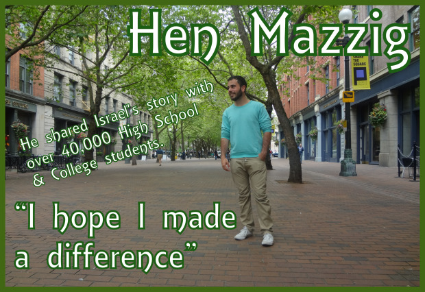 Hen Mazzig I hope I made a difference
