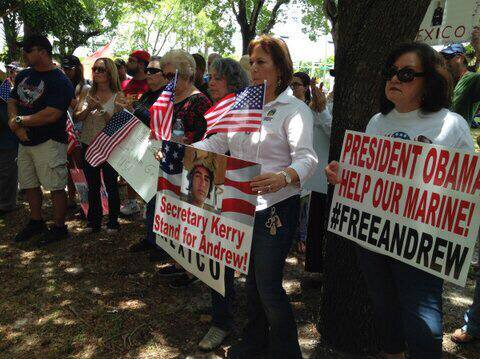 "[At May 31, 2-14 ""Free Tahmooressi"" Rally (via Facebook)]"