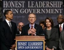 Obama Reid Pelosi Honest Leadership Open Government