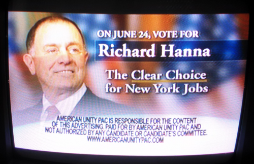 Richard Hanna PAC ad American Unity PAC