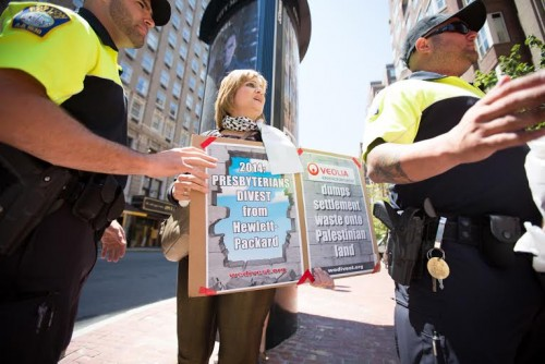 Anti Israel protester attacked Chloe Valdary Boston July 11 2014