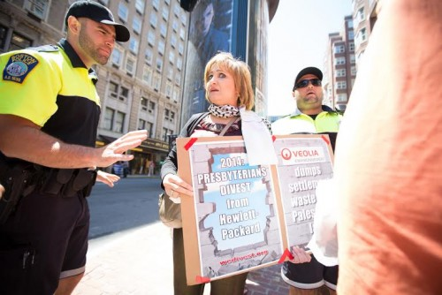 Anti Israel protester who attacked Chloe Valdary Boston July 11 2014