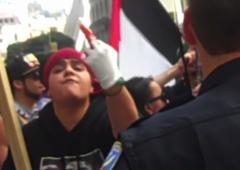 [BDS protester, San Francisco,  July 2014]