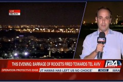 Barrage of Rockets Fired Towards Tel Aviv 7-15-2014