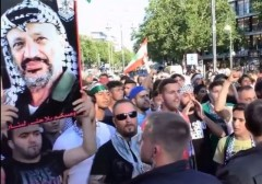 Berlin rally Jew, Cowardly Pig, Come On Out And Fight