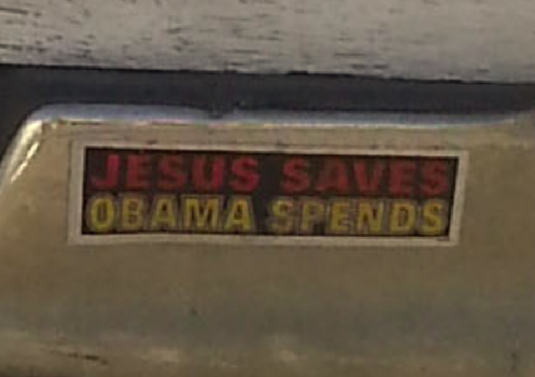Bumper Stickers - Porter TX - Jesus Saves Obama Spends