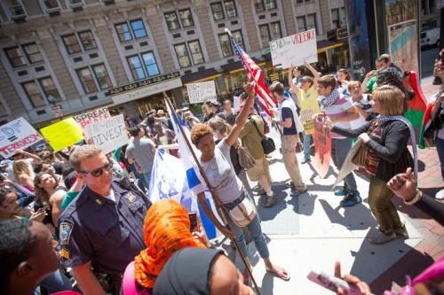 (Protest Boston, July 11, 2014, Chloé Simone Valdary center)