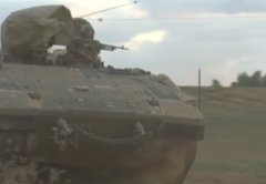 Gaza Ground War Day Two Tank