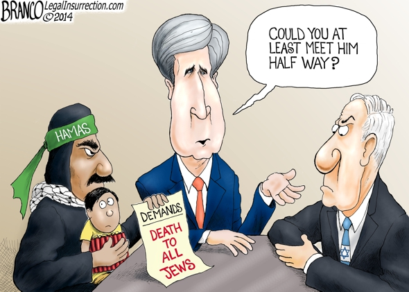 Negotiating With Hamas Cartoon