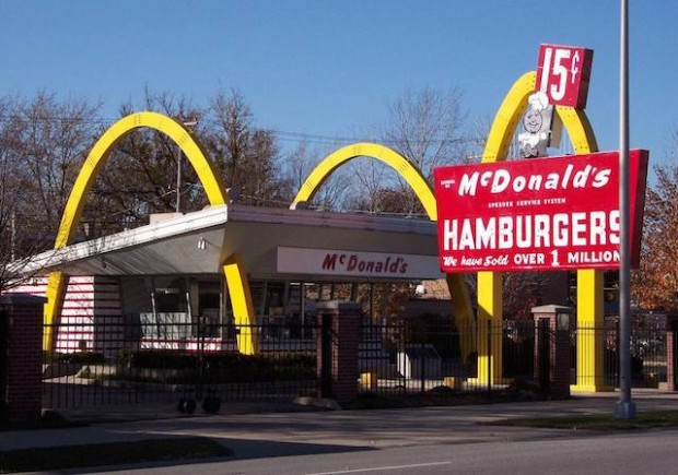 This is a picture of Ray Kroc's first McDonald's restaurant in Des Plaines IL USA - now a museum.