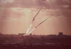 Rockets fired from Gaza civilian area at Israel