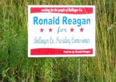 Ronald Reagan for Bollinger County Presiding Commissioner Sign