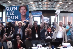 Run Liz Run Elizabeth Warren for President Video Men with Posters