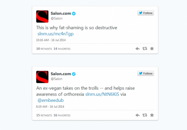 Salon.com real tweets