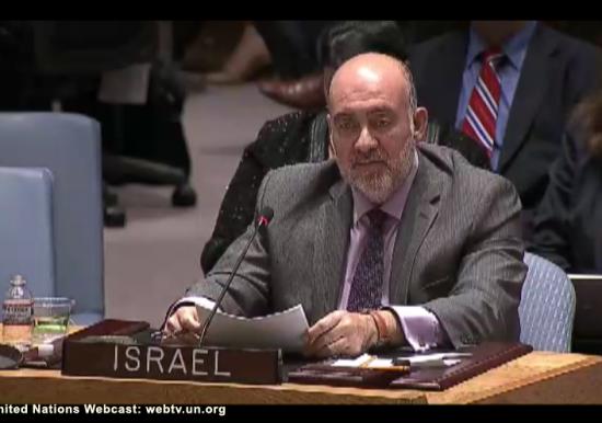 Security Council Emergency Meeting Gaza - Israel Ambassador Ron Prosor