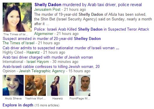 Shelly Dadon Google News Search 7-7-2014 740 a.m.