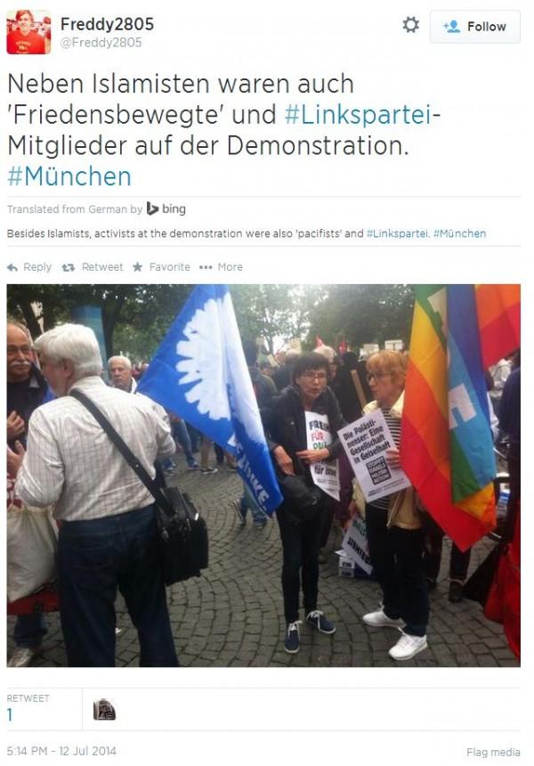 TWitter - @Freddy2805 Munich Leftists and Islamists