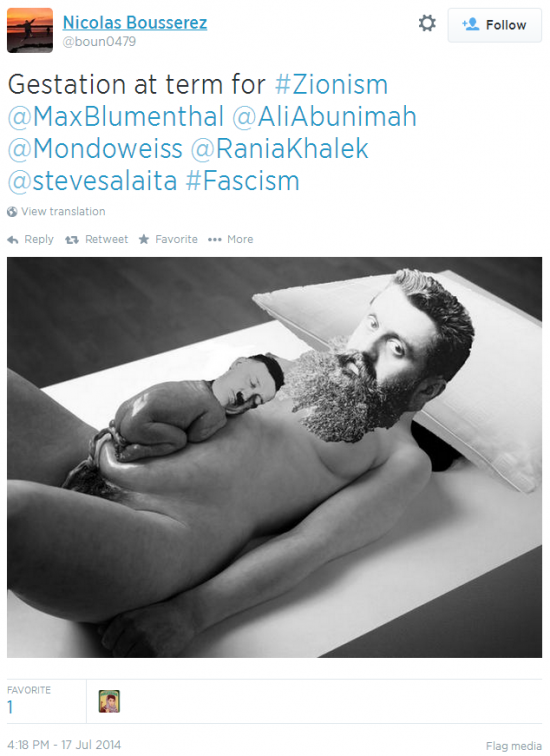 Twitter - @bound0479 - giving birth hitler Zionism