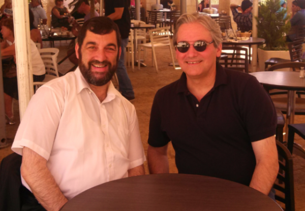 [Carl in Jerusalem and William Jacobson, 2013]