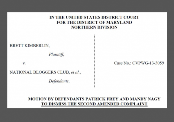Kimberlin v NBC et al - Frey and Nagy Motion to Dismiss caption w border