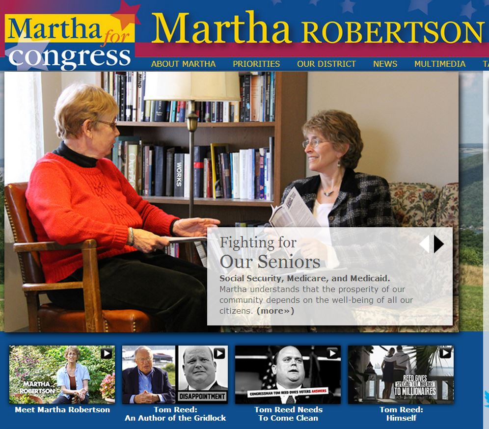 Martha Robertson for Congress home page 8-13-2014