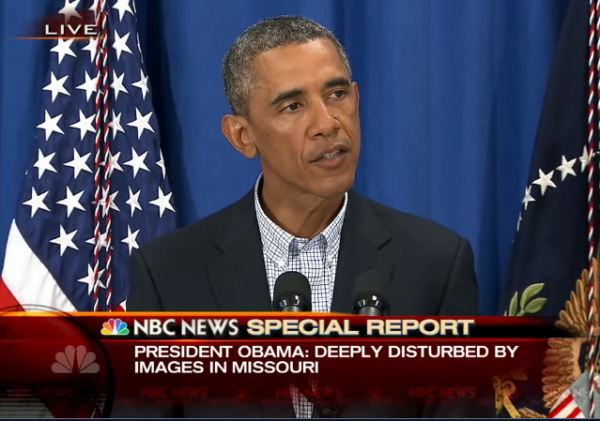 Obama Statement Ferguson MO 8-14-2014
