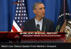 Obama Statement Iraq Humanitarian 8-14-2014 2
