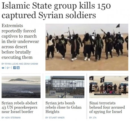 Times of Israel Syria Rebels Sinai terrorists Executions