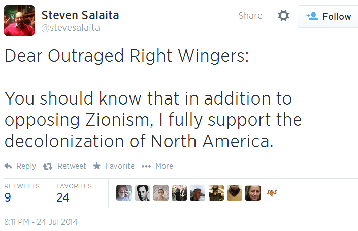 Twitter _ stevesalaita_ Dear Outraged Right Wingers_ You Decolonization of North America