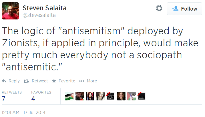 Twitter _ stevesalaita_ The logic of _antisemitism