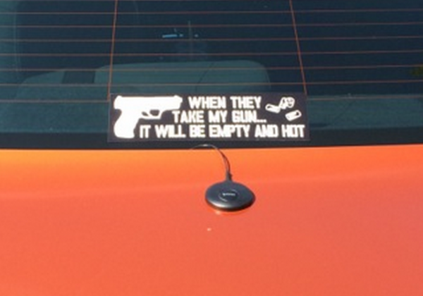 Bumper Sticker - Eugene, Oregon - Take My Gun