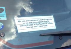 Bumper Sticker - Maryland - Democracy in America