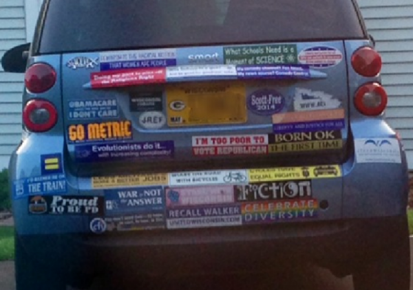 Bumper Stickers - Madision WI - Recall Walker Full Vehicle