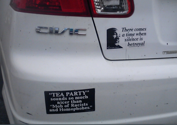 Bumper Stickers - Virginia - Tea Party MLK