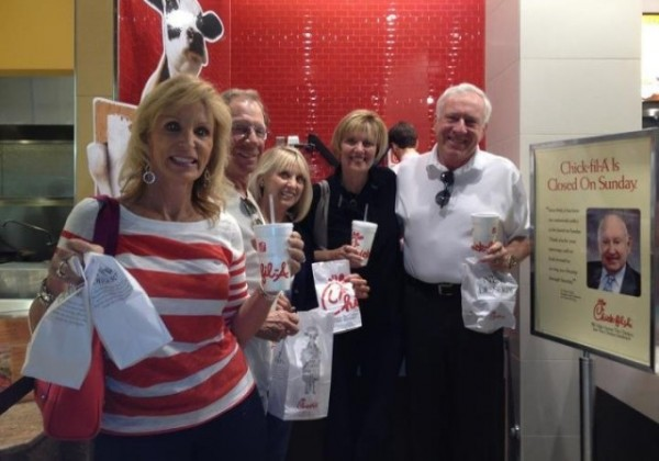 [Chick-fil-A Appreciation Day 2012)Lee, Newport Beach, CA